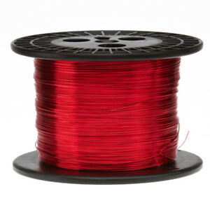 "14 AWG Gauge Enameled Copper Magnet Wire 10 lbs 799' Length 0.0655"" 155C Red"