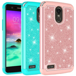 new style 4b0db 1e347 Details about For LG Stylo 3, Stylo 4 Case Glitter Bling Hybrid Armor  Protective Phone Cover