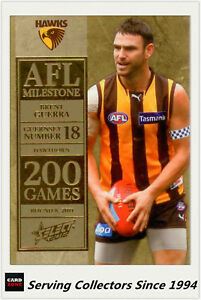 2012-Select-AFL-Champions-Milestone-Card-MG37-Brent-Guerra-Hawthorn