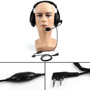 1x-Heavy-Duty-Overhead-Headset-Boom-Mic-PTT-For-Kenwood-Puxing-Baofeng-Radio