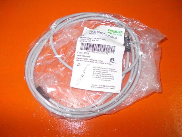 (6,00€/m) neu 2m Murr Elektronik 7000-88001-2200200 Pur 3x0,25 07118 Kabel