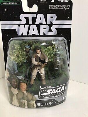 Star Wars The Saga Collection REBEL TROOPER black variant #046 2006