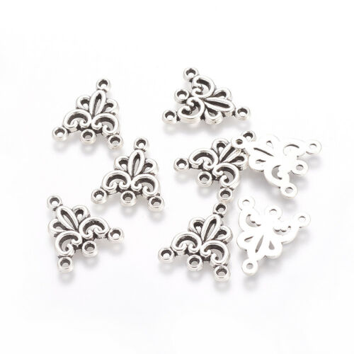 20PCS Alloy Chandelier Components Links Nickel Free Antique Silver 19x16mm