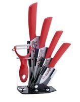 Tim Home Kit 5 Ps Cuchillos De Cocina De Cerámica Con Pelador Y Base Tjc-071
