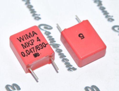 630V 5/% pich:7.5mm Capacitor 10pcs 0.047µF 0,047uF 47nF WIMA MKP4 0.047uF