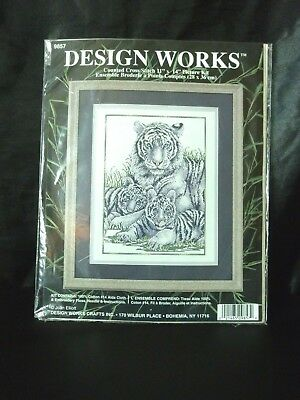 Design Works Counted Cross Stitch kit White Tiger
