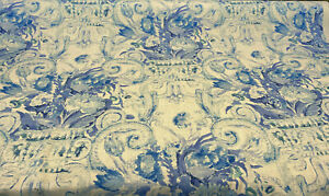 Waverly Linen Volterra Cielo Blue White Fabric by the yard