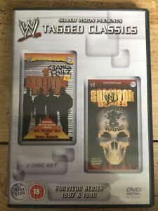 WWE-Tagged-Classics-Survivor-Series-1997-amp-1998-DVD-2-Disc-Set-WWF-RARE-97-98