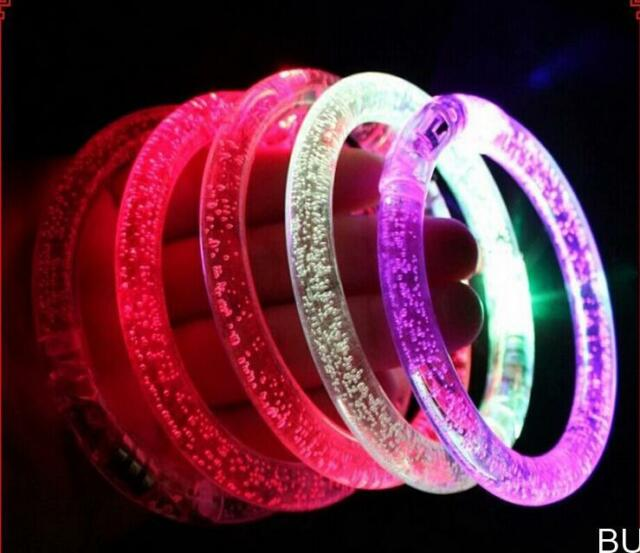 BU AU Blinking LED Flash Bracelet  Colorflu Color Changing Party Club Stage