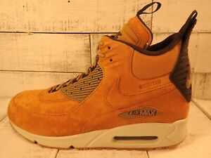 Details about ☄️NIKE AIR MAX 90 Sneakerboot Winter Waterproof Wheat 684714 700 Men's Size 11