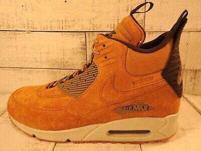 ☄️NIKE AIR MAX 90 Sneakerboot Winter Waterproof Wheat 684714 700 Men's Size 11