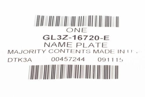 2015-2018 F-150 Lariat Right Passenger Fender Emblem Red Black OEM GL3Z-16720-E
