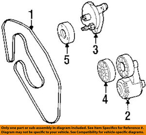 Mercedes MERCEDES-BENZ OEM 1998 SL500-Serpentine Drive Fan Belt 0119974592  | eBay