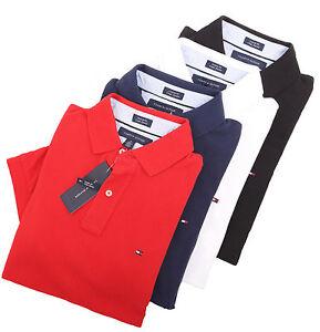 Tommy-Hilfiger-Men-039-s-Short-Sleeve-Custom-Fit-Pique-Polo-Shirt-0-Free-Ship