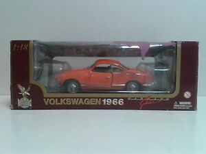 ROAD-LEGENDS-1-18-VW-Karmann-Ghia-1966-Orange-OVP-MIB-issued-in-1990-039-s