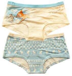 Filles Pack De 2 Paires Slips Disney Bambi Knickers Hipster Pantalon 7 To 13 Ans-afficher Le Titre D'origine Le Plus Grand Confort