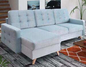 Corner Sofa Bed Vegas With Bedding
