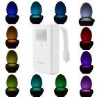 8 /16 Colors Body Sensing Automatic LED Motion Sensor Toilet Bowl Night Light