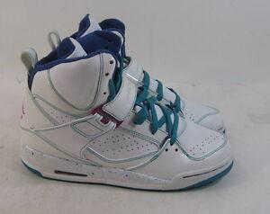 5e0863c4bfc Nike Air Jordan Flight 45 High (Gs) White Pink Green Boot 384520-165 ...