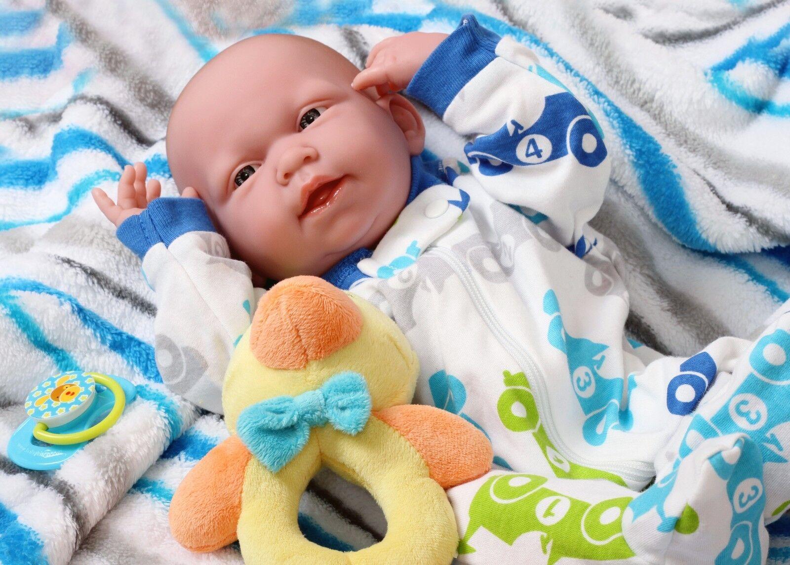 Muñeca Bebé Niño correcto 15 pulgadas Real Vivo Vinilo Suave bathable Preemie realista