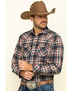 Cinch Mens Modern Fit Long Sleeve Snap Two Flap Pocket Plaid Shirt