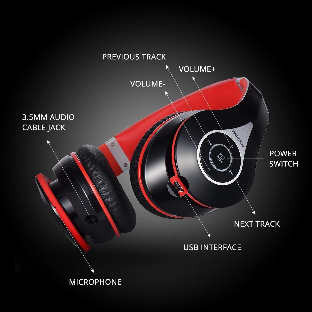 a9ad4f728459e9 Mpow 059 Bluetooth Headphones Over Ear, Hi-Fi Stereo Wireless Headset,  Foldable 3 3 of 12 ...