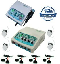 Combo Homeprofessional 4 Channel Electrotherapy Amp Ultrasound 3mhz Therapy Unit