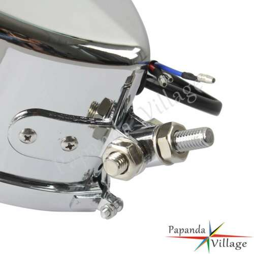 Motorcycle Triangle Vintage Retro Headlight Chrome For Harley Bobber Chopper Hot