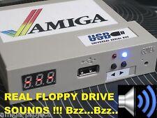 AMIGA USB FLOPPY DISK DRIVE Sound & Blue LED A500 / 600/1200 / 2000/3000 / 4000 gotek