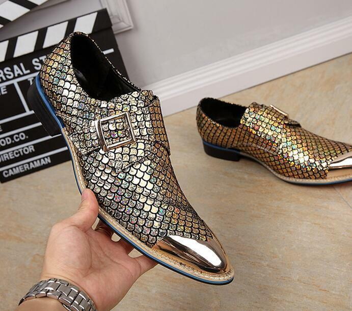 Business uomo Pointed buckles young wedding scarpe party fashion leisure scarpe