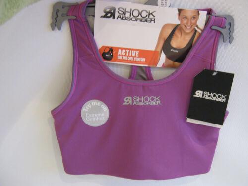 Shock Absorber Sports Bra Active Crop Top Moisture Wicking UK Size XS  6-8 NEW