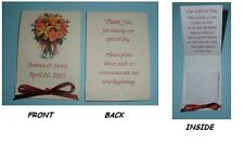 ~ WEDDING / BRIDAL SHOWER FAVORS~100 FLOWER SEED PACKETS~PERSONALIZED FOR YOU!!!