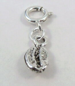Pewter-Coffee-Bean-Charm-on-a-Silver-Spring-Ring