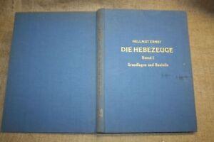 Fachbuch-Hebezeuge-Krananlagen-Mobilkran-Kran-Bauteile-Technik-1958