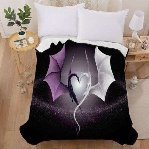 Dragon Soft Ultra Blanket Cozy Throw Warm Sofa Home Couch Lightweight Polyester