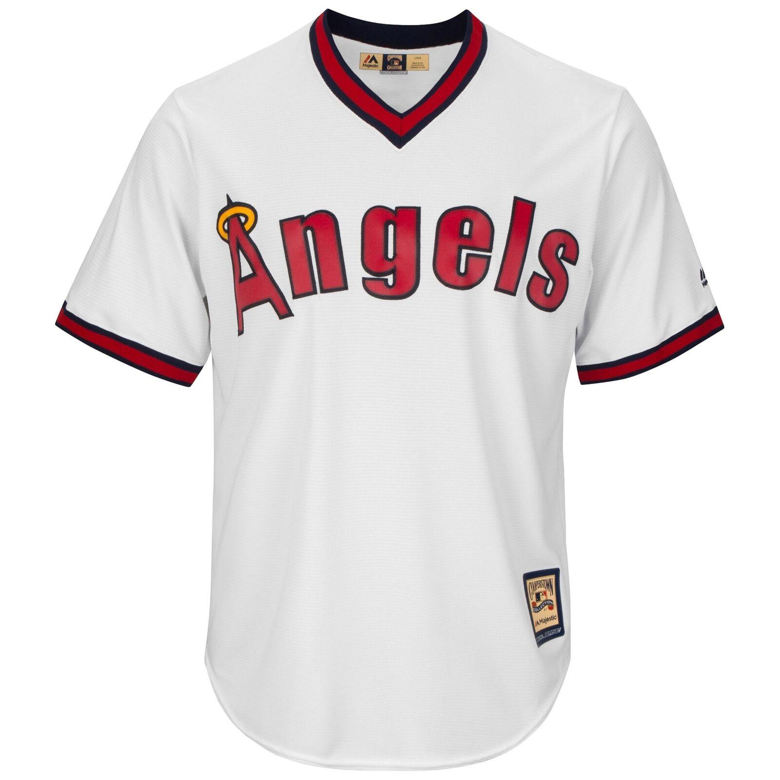 MLB California Angels Majestic Cooperstown Cool Base Trikot Sport Shirt Herren