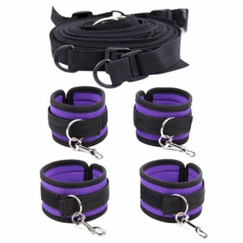 Sex-SM-Toys Simple fun bed straps bed bound tied shackles handcuffs adult toys