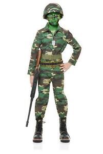 Army Costume Kids Soldier Halloween Fancy Dress