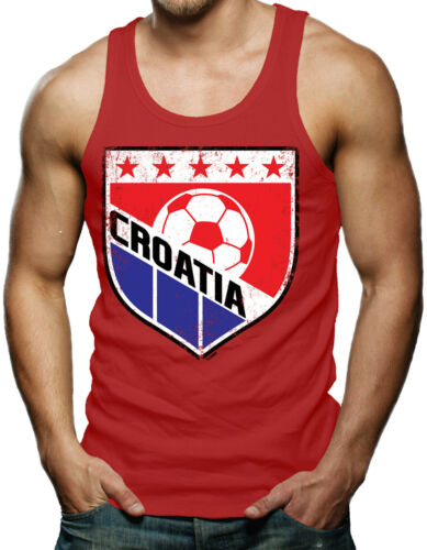 World Cup futbol football Olympics Tank T-Shirt Croatia Soccer Badge