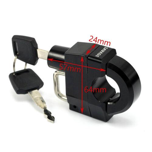 25mm Handlebars Helmet Lock For HONDA VT 400 600 750 1100 VTX 1300C//R//S 1800C//F