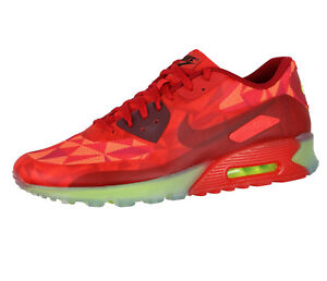 Details about NIKE Air Max 90 Ice sz 13 Gym Red University Red Crimson Volt Translucent