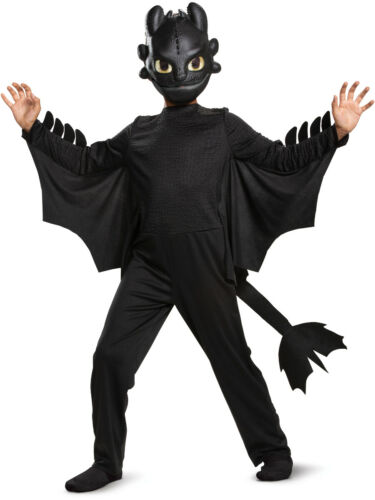 Child/'s Classic How To Train Your Dragon 3 Toothless Costume