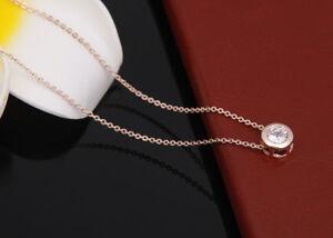Damen-Gold-18K-Halskette-mit-Anhaenger-Collier-Kette-40cm-Diamant-vergoldet-34