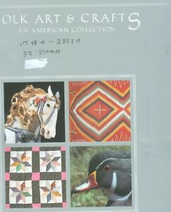 FOLK-ARTS-amp-CRAFTS-AN-AMERICAN-COLLECTION-WITH-MATCHING-PLAT-BLK-OF-STAMPS