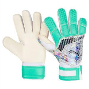 Puma Men's One Grip WC 1 Goalkeeper Gloves white/Shift Green 4150601