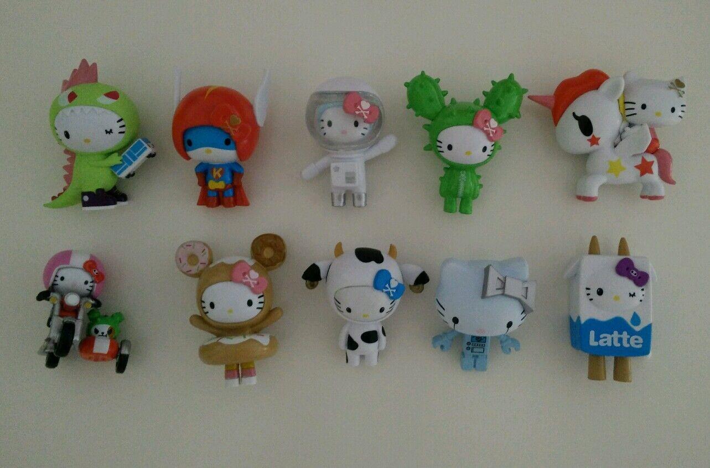 NEW TOKIDOKI x Hello Kitty VINYL SERIES collection Set Of 10  figures figurine