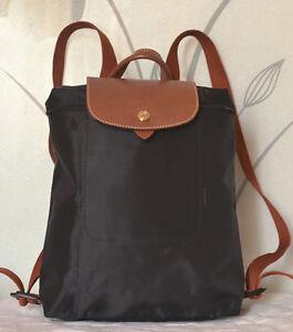 48d5d4314bd2 Image is loading New-Longchamp-Le-Pliage-Backpack-Black