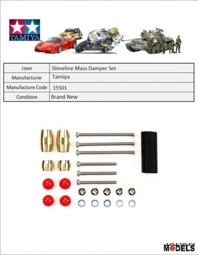 Mini 4wd SLIMLINE MASS DAMPER SET Tamiya 15501 New Nuovo