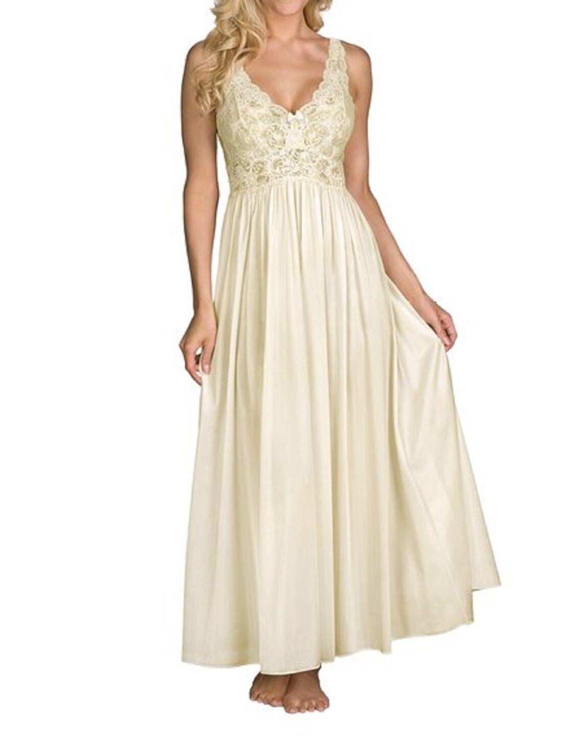 Shadowline Women's Silhouette 53 Inch Sleeveless Long Gown - 31737