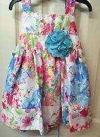 Youngland Girls Dress Spring Floral Sparkle Toddler Size 2t Easter Dress
